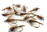 Pheasant Tail Crunchers Still Water Lake Nymph, Fly Fishing Flies, Rainbow Trout