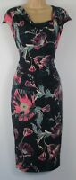 New Marks & Spencer Per Una Grey Floral Print Bodycon Dress -  Size 6