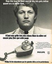 PUBLICITE ADVERTISING 114  1974  PHILIPS  rasoir