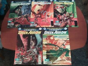 Green Arrow DC Universe Rebirth Comic Book Lot of 5