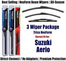 3-Pack Wipers Front & Rear NeoForm - fit 2004-2007 Suzuki Aerio - 16220/180/12B