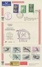 ÖSTERREICH 1964 Olymp. Winterspiele Innsbruck AUA-Sonderflug OLYMPIA-ATHEN-WIEN