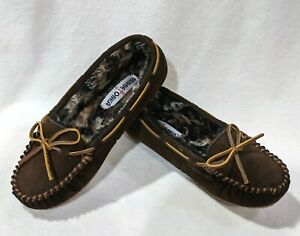 Minnetonka Britt Trapper II Chocolate Brown Suede Women's Slippers- 7/8/9/10/11