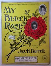 1904 Antique Originl MY BLACK ROSE Sheet Music Americana Jos Barrett MINNEAPOLIS