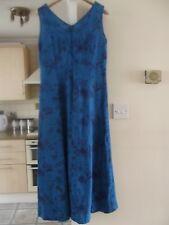 Laura Ashley blue floral sleeveless dress size UK 8