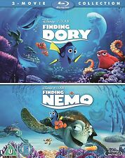Finding Dory / Finding Nemo - Double Pack [Blu-ray Set, Disney, Region Free] NEW