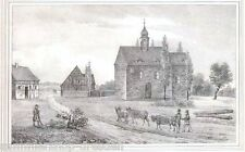 Heyersdorf litografía de Sajonia iglesias galería kirchengallerie para 1840