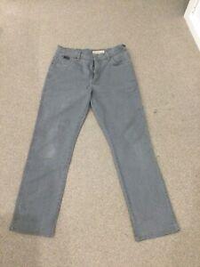 Mens WRANGLER Texas Stretch Jeans Size W32 L30 Grey