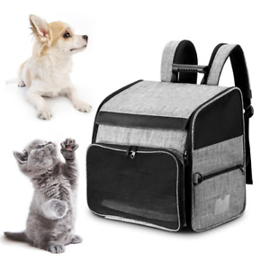 Pet Travel Backpack Black+Gray Durable Dog Backpack Pets for Cats Animals Dogs