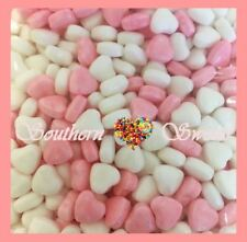 PINK & WHITE HEARTS CANDY PINK AND WHITE LOLLIES 2kg Bulk