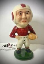 1940's VINTAGE MOYER RED & WHITE FOOTBALL PLAYER COIN BANK FIGURE STATUE
