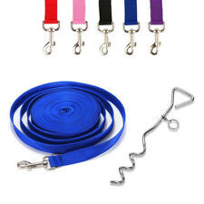 DOG CAMPING GROUND GARDEN TIE OUT SCREW STAKE SPIKE POST ANCHOR 10FT CABLE LEAD