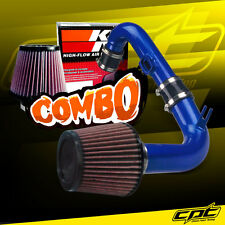 11-15 Chevy Cruze Turbo 1.4L 4cyl Blue Cold Air Intake + K&N Air Filter