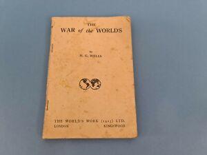 Rare 1913 The War of The Worlds H.G. Wells