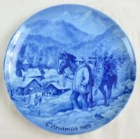Kaiser Porcelain Plate Bringing Home the Christmas Tree 1982 Made In W. Germany