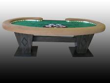 Kidney Bean Shape Custom Poker Table w/ Fully Skirted Dining Table Top Included!