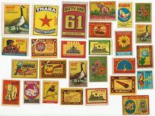 India 1970s-80s Matchbox labels x 50 different