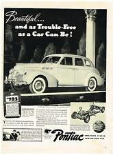 Vintage 1940 Magazine Ad Pontiac Beautiful And As Trouble Free As A Car Can Be