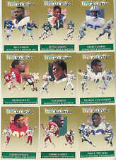 1991 FLEER ULTRA FOOTBALL ALL STARS COMPLETE INSERT SET 1-10