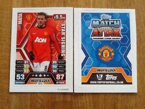 Topps Match Attax Extra 13/14 Juan mata manchester united Card 2013 2014