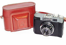 Smena 8 Russian 35mm camera USSR LOMO Rare 1960s w/ Triplet-43 case Soviet