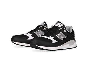 $99 NIB Men's New Balance 530 90's Leather Retro M530LGB Shoes 311 999 Black