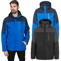 DLX Danson Mens DLX Waterproof Jacket in Black & Blue Rain Coat With Hood