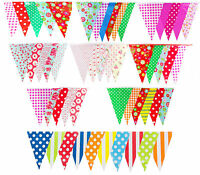 100ft 30m 60 Flags Bunting Birthday Outdoor Garden Wedding Baby Shower Floral