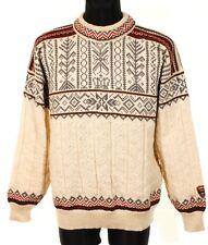 DALE OF NORWAY Men OZ307 Trondheim Wool Sweater Jumper Cardigan Size XL