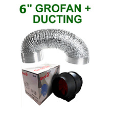 "HYDROPONICS VENTILATION COMBO - 6 INCH GROFAN + DUCTING FOR GROW TENT 6"" EXTRACT"