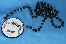 New Beaded Budweiser San Francisco Giants Necklace pub bar beer MLB