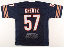 Chicago Bears Olin Kreutz Signed Career Highlight Stat Football Jersey ~JSA COA~
