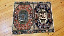 Stunning 1930-1939s Antique Wool Pile Natural Dye Bunyan Rug 2'1''x2 39;6''