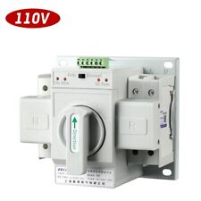 New 110V Dual Power Automatic Transfer Switch 2P 100A 63A 50/60Hz Toggle Switch
