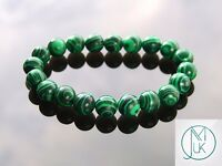 Malachite 10mm Manmade Gemstone Bracelet 7-8'' Elasticated