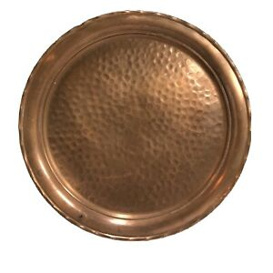 Vintage Hammered Copper 12 inch Platter
