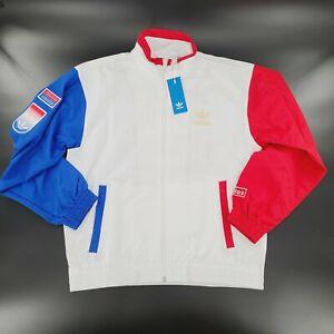 Adidas Original Shadow Trefoil Windbreaker Jacket GL5132 White Mens Large NWT