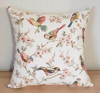 Cath Kidston British Birds & Linwood Omega Velvet Chalk Cushion Cover 40x40 cm