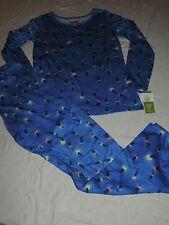 Women's size Medium CHRISTMAS Lights Blue Pajamas Sleepwear Family sleep set NWT
