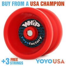 YoYoFactory WHiP Beginner Yo-Yo - Red + FREE STRINGS