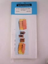 More details for railway ho / oo scale banta modelworks model kit 5 in 1 outhouse set sealed rare