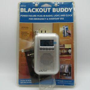 FR100 Eton Blackout Buddy Radio Light Clock Power Failure Plug-In Emergency Use