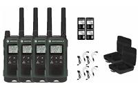 Motorola TALKABOUT T465 Two-Way Radio Walkie Talkies PTT Earpieces NEW 4-PACK