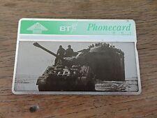 BRITISH TELECOM PHONECARD BT D Day tank Rare 20 Units COLLECTABLE unused