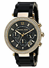 NEW Michael Kors MK6404 Parker Black Women's Watch