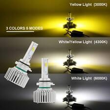 White/Yellow 5 Modes 16000LM HB3/9145/9005/H10 LED Car Headlight Kit Hi/Lo Beam