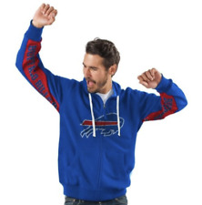 Buffalo BILLS Official NFL Hands High Game Day Fleece Hoodie Jacket~ 2X