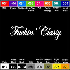 CLASSY Vinyl Decal Sticker Window Car Truck Drift JDM