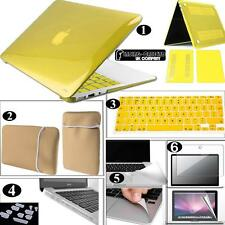 Bundle 6 in 1 Apple Macbook Glossy Clear Hardshell Neoprene Pouch UK Keyboard