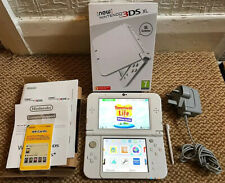 *New Style* Nintendo 3DS XL - White Handheld Console with Charger & Box